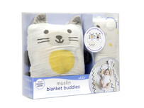 Muslin blanket buddies cat/dog