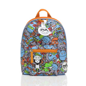 Mini Backpack Robot Blue 1-4yrs Zip & Zoe