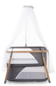 Nacalu crib woodlook + mosquito +bag