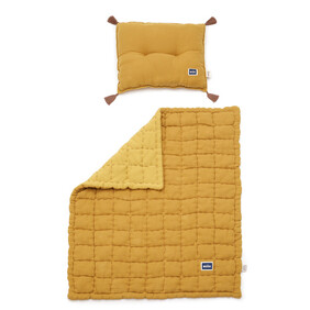 Quilted cotton toddler bedding set- Honey